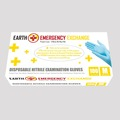 Instant Buy: Emergency-Aid Products: E3E-GLV-N001 Premium Nitrile Examination Gloves - 10 Boxes/Carton