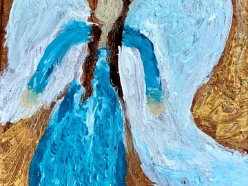 Selling with online payment: Angel Painting, 5 by 7 inches