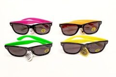 Liquidation/Wholesale Lot: Unisex – Slurpee Mirrored Lens Classic Neon Party Sunglasses