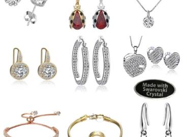 Liquidation/Wholesale Lot: 12 Pcs Swarovski Elements Crystal Jewelry