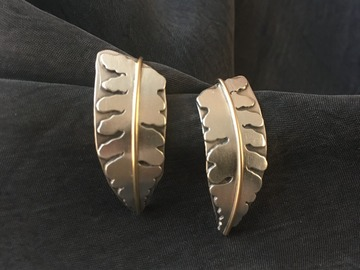 Selling with online payment: Fern Earrings, medium