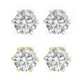 Buy Now: 100 pair Swarovski Crystal Stud Earrings 2 Carat Silver & Gold