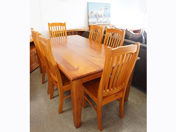 Selling: SUSAN Solid Wood Dining Table Series * NZ Pine--1.0/1.2/1.5/1.8/2