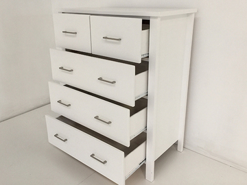 Selling: TINA Solid Wood Tall boy Drawers*WHITE COLOUR