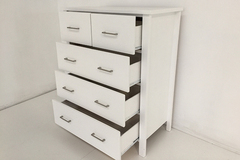 For Sale: TINA Solid Wood Tall boy Drawers*WHITE COLOUR