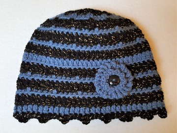 Selling with online payment: Ladies Sparkle Winter Hat with Flower