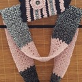 Selling with online payment: Winter Crocheted Hat/Infinity Scarf Set