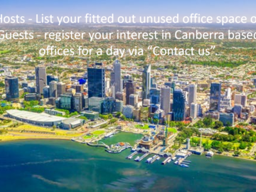 Announcement: REGISTER YOUR INTEREST in Canberra Offices - Rent for 1 day