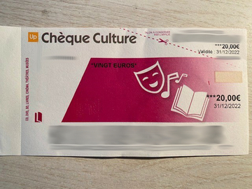 Vente: Chèques Culture (660€)