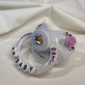 "Selling with online payment: White ""Am Baby"" Pacifier"