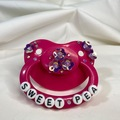 "Selling with online payment: Hot Pink ""Sweet Pea"" Pacifier"