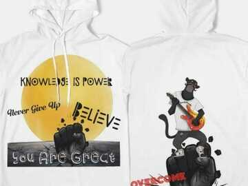 Selling with online payment: Knowledge is Power Short Sleeve Hoodie