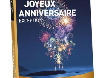 """Vente: e-coffret Wonderbox """"Joyeux anniversaire Exception"""" (149,90€)"""