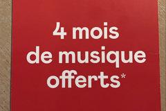 Vente: Carte cadeau DEEZER - 4 mois de musique (40€)