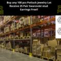 Buy Now: 100 Pieces Potluck Jewelry Lot-25 pair Swarovski studs FREE!