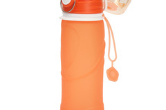 Buy Now: CALIBREWARE –ORANGE  Collapsible Leakproof Silicone Water Bottle