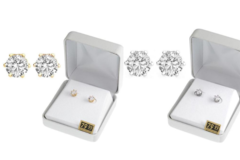 Buy Now: 50 Pair Cubic Zirconia Earrings in Beautiful Gift Box -2 day Sale
