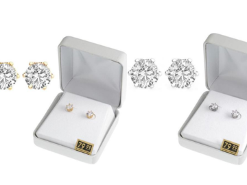 Liquidation/Wholesale Lot: 25 Pair Cubic Zirconia Earrings in Beautiful Gift Box -2 day Sale