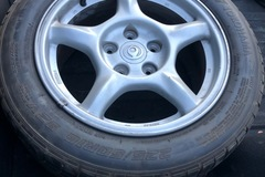 Selling without online payment: 1993 RX7 FD OEM wheel set with old tires