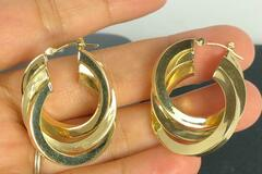 Women: (SOLD) Stamp and tested real solid 14k gold !!