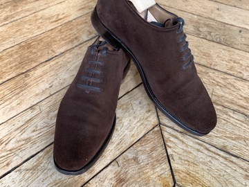 Online payment: Bowen brown suede oxfords - 6