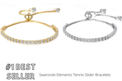 Buy Now: 12 pieces Swarovski Elements Tennis Slider Bracelets- Free Ship!!
