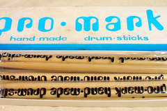 Selling with online payment: New Old Stock 6 pr PROMARK 5B wood tip drumsticks in original box