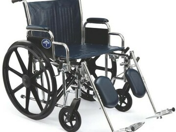 SALE: Wheelchair 22″ Extra-Wide Seat Width W/24″ Rear Wheels