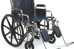 SALE: Wheelchair 22″ Extra-Wide Seat Width W/24″ Rear Wheels