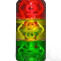 "Post Products: Cheech Glass 10"" Rasta Freezer Build A Bong Top Green Yellow Red"