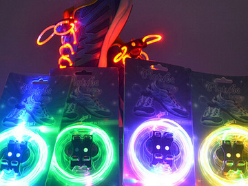 Buy Now: LED light up SHOELACES . Changeable battery .