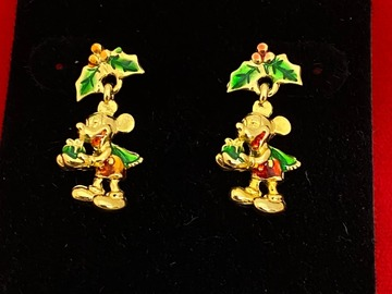 Buy Now: 50 pairs-- Christmas Mickey Mouse Disney Earrings -$1.99 pair