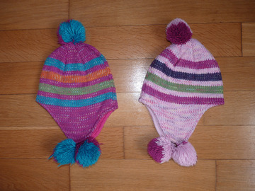 Vente: Lot de 2 bonnets fille 2-4 ans TBE