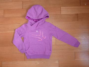 Vente: Sweat-shirt Artengo violet fille 6 ans TBE