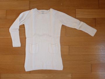 Vente: Robe en laine blanche Cyrillus 6-7 ans TBE