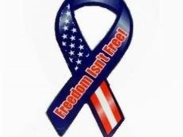 Compra Ahora: Freedom Isnt Free Patriotic 8 Ribbon Magnet Item #444