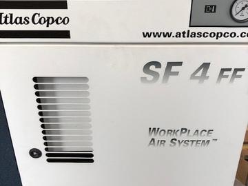 Gebruikte apparatuur: Atlas Copco SF4 medische compressor