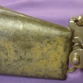 Selling with online payment: 1920-30s LUDWIG hoop mount cowbell holder w/ cowbell