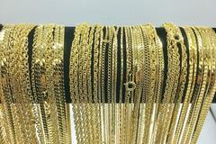 Buy Now: 50 Piece Chain Assortment 14 KT Gold Finish MADE IN USA