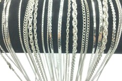 Buy Now: 50  Piece Chain Assortment Sterling Silver Finish