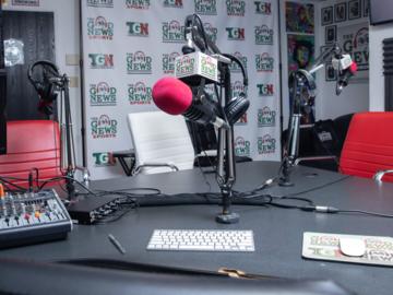 Rent Podcast Studio: The Good News Media Radio & Podcast