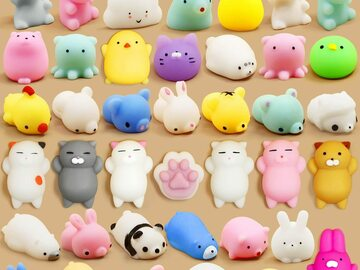 Compra Ahora: 2-Pack – Gummy Pals Mini Squishy Animal Stress Relief Toys –
