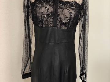 Selling: Leather Dress with Lace