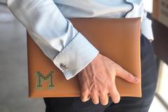 : Stitch Your Design Laptop Sleeve - Brown