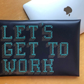 : Stitch Your Design Laptop Sleeve - Navy