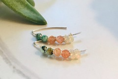 Selling: Gemstone Beaded Threaders with Opals