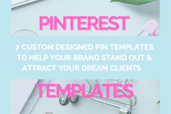 Offering online services: 7 Custom Pinterest Pin Templates