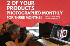 Offering online services: Monthly Product Photography Bundle!