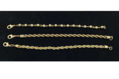 Buy Now: 50 pcs  bracelets 3 Assorted Styles 14 kt Gold Plated -7 1/2 inch
