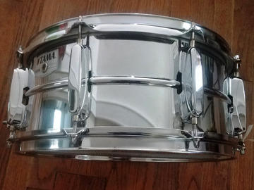 """Selling with online payment: Tama chrome over steel 6.5 x 14"""" snare drum Rockstar"""